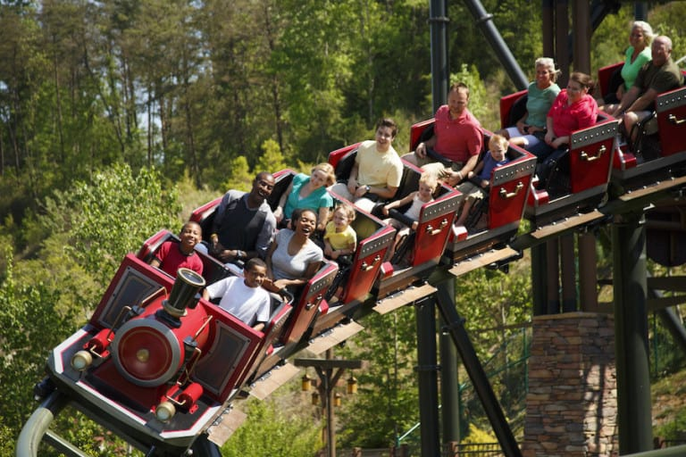 Firechaser Express coaster at Dollywood