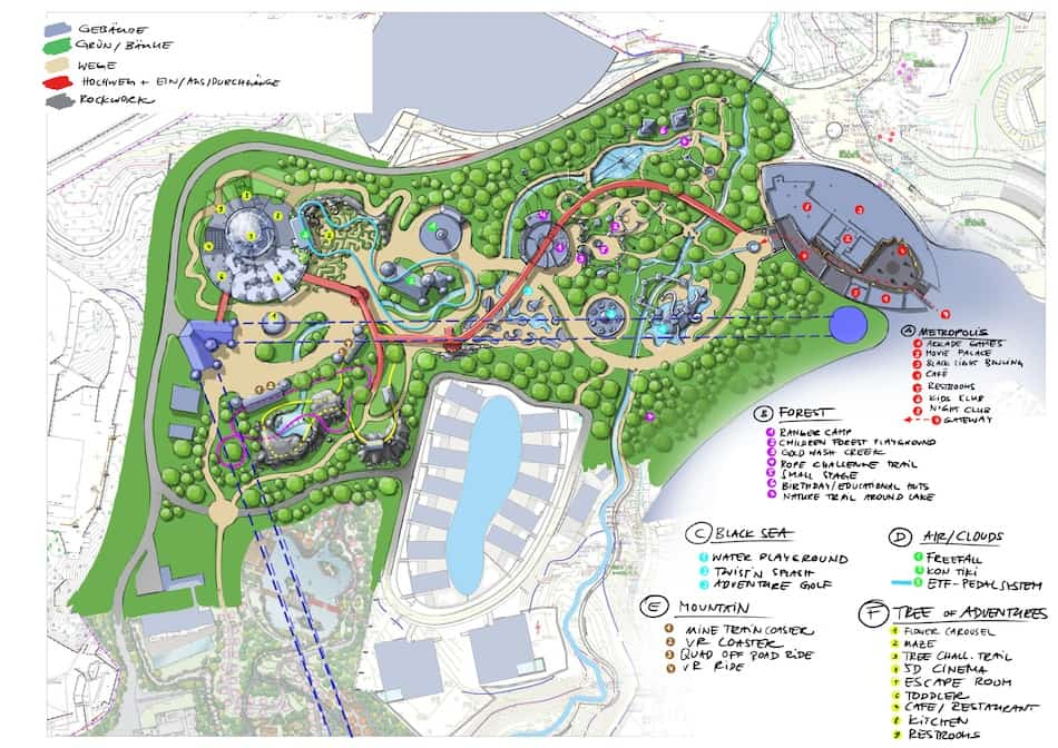 Dreamwood theme park Mriya resort plan
