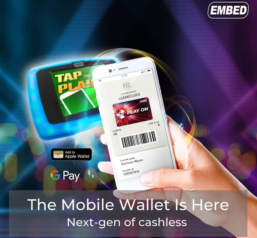 Embed showcases new Mobile Wallet at Amuseument Expo 2020