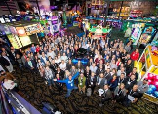 group shot of attendees at IAAPA FEC Summit 2020