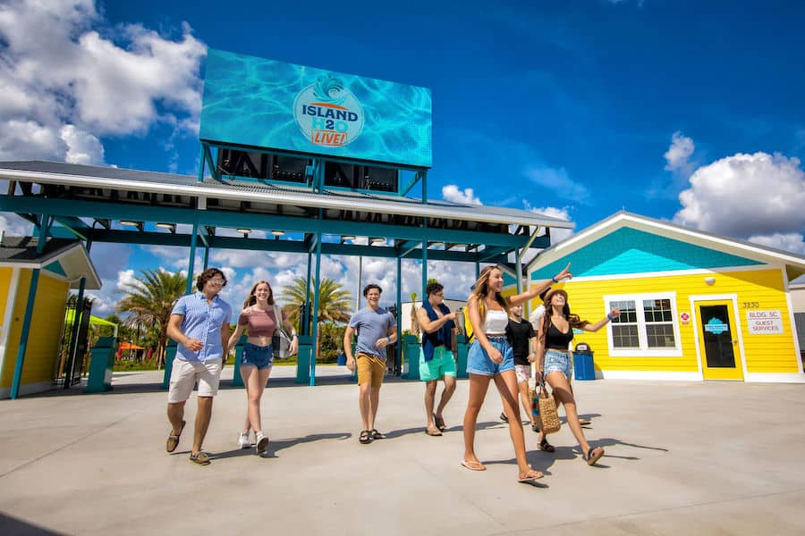 Guests walking through the Island H2O Live entrance