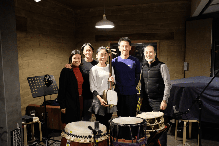 musicians behind the audio experience for Japan Supernatural at the Art Gallery of New South Wales, produced by Art Processors