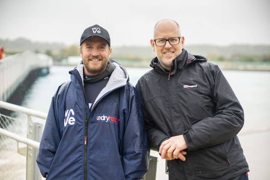 Nick Hounsfield and Craig Stoddart, founders of The Wave Bristol surf park