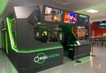 New Virtuix Omni Arena installation at Full Throttle in Cincinnati