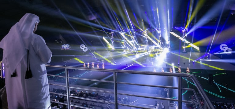 Painting with Light designed lghting concept for WEGA Global Games opening ceremony in Qatar
