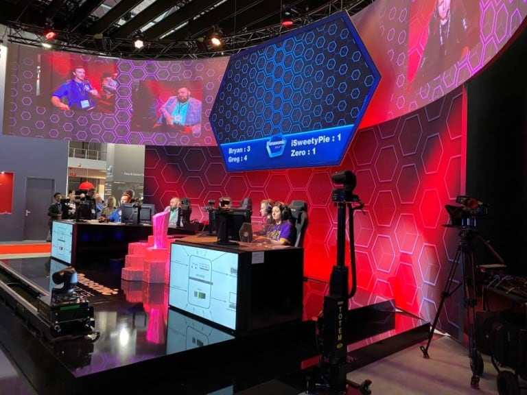 esports experience at the Panasonic ISE show