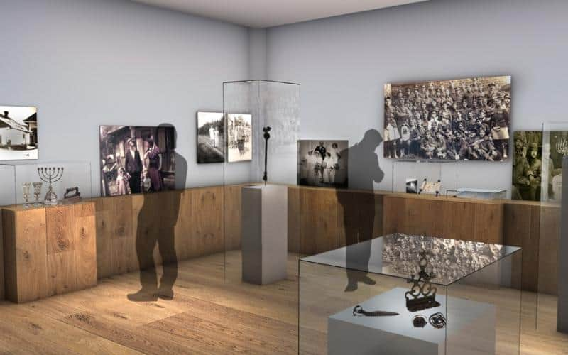 Artist rendition of IWM exhibition with Sysco Productions