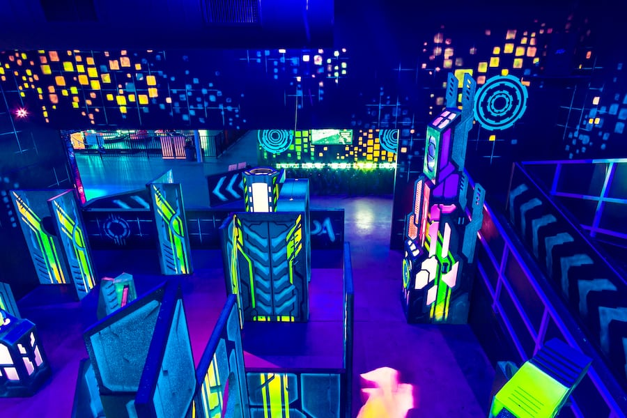 new laser tag arena by Creative Works at Urban Air Knoxville