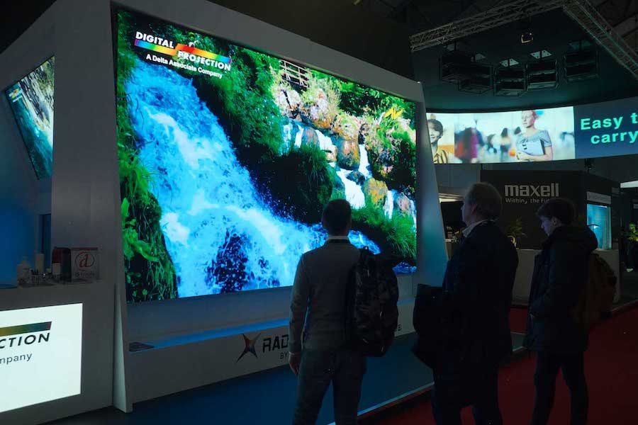 digital projection radiance-led wall at ISE 2020