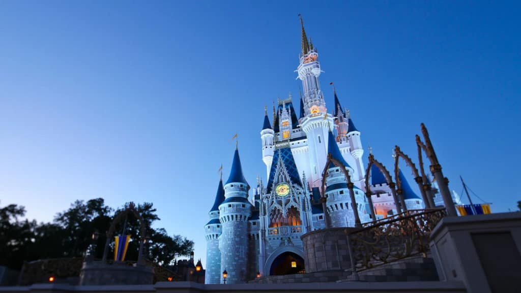 cinderella castle - walt disney world is just one of many theme parks responding to coronavirus
