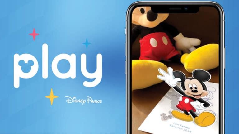 mickey mouse play disney parks app