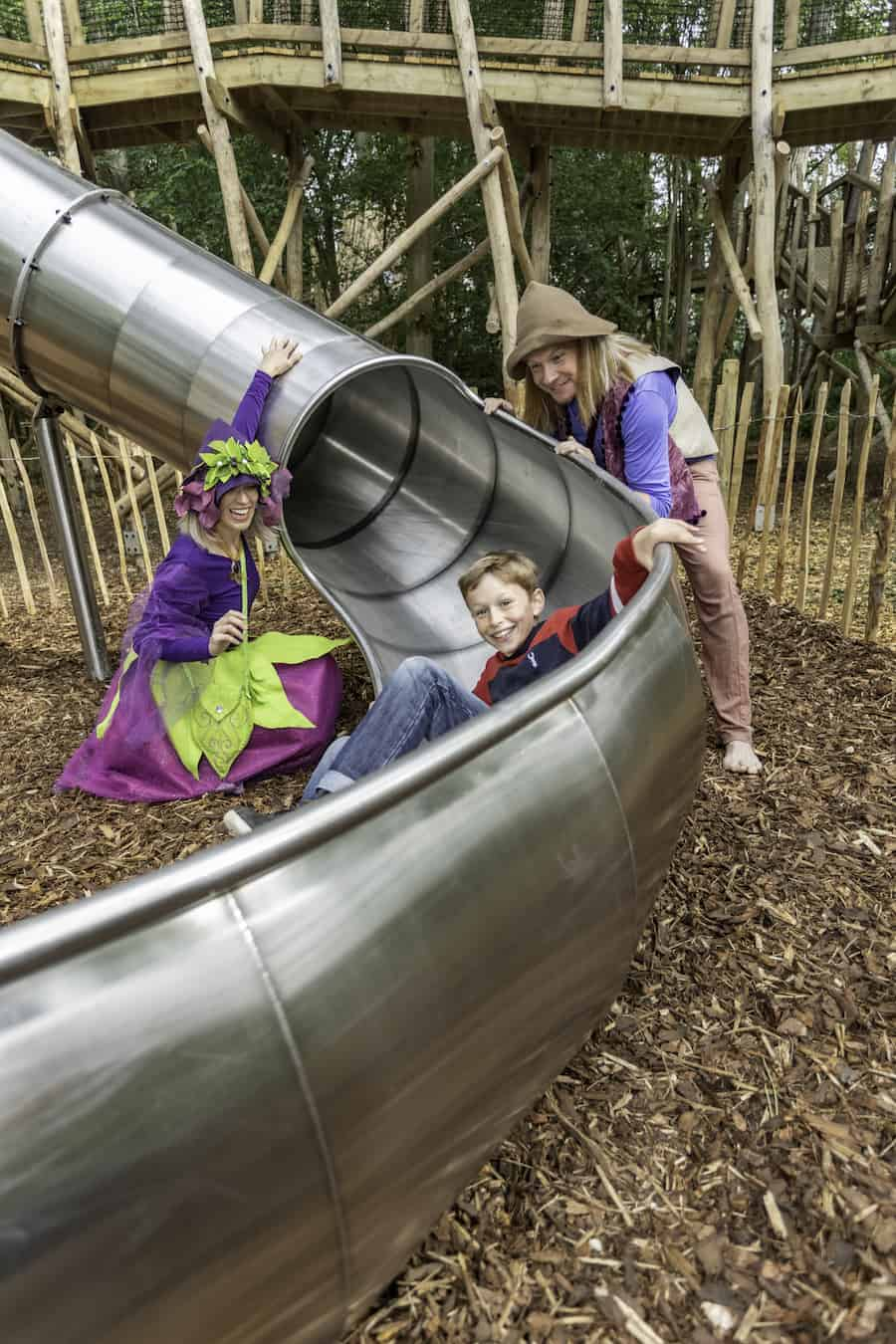 fun on a slide at Castle Howard's Skelf Island playground
