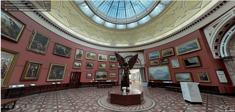 Virtual tour of Birmingham Museum using 3D technology