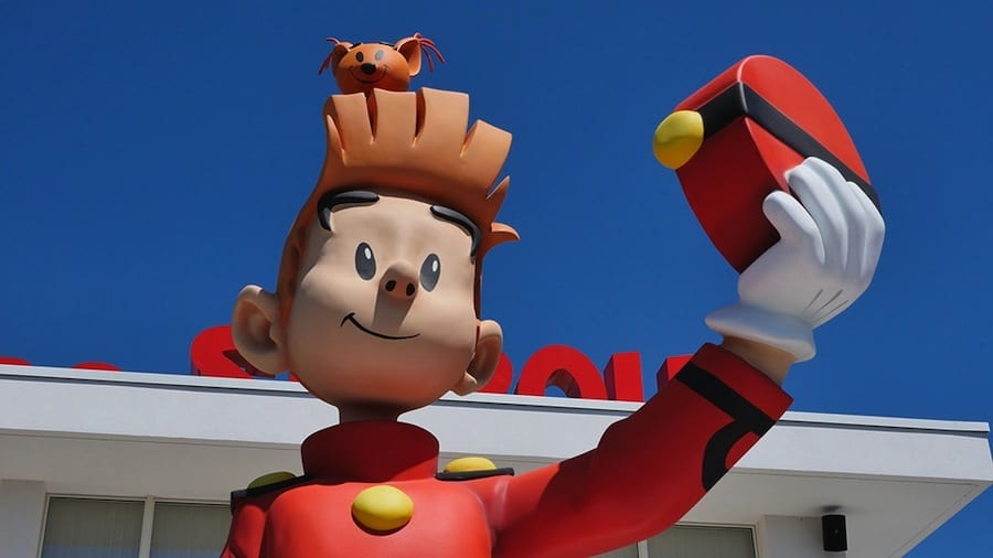 Park entrance with Spirou and Marsupilami