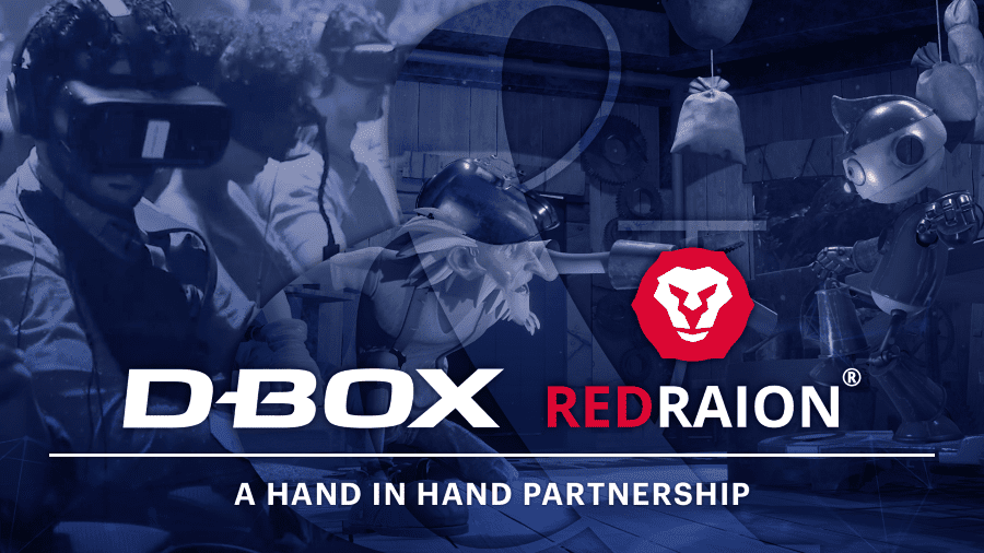 D-BOX and Red Raion partnership announcement poster