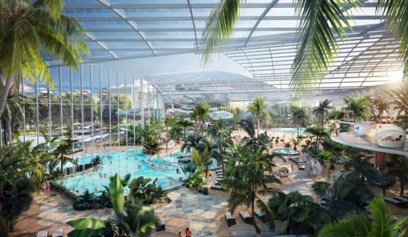 Artist impression of waterpark at Therme Manchester