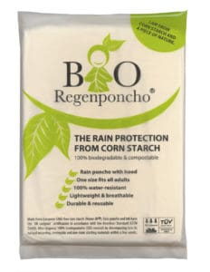 Event Network launches biodegradable rain poncho
