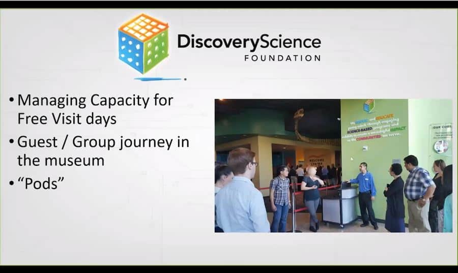 Discovery Cube capacity management