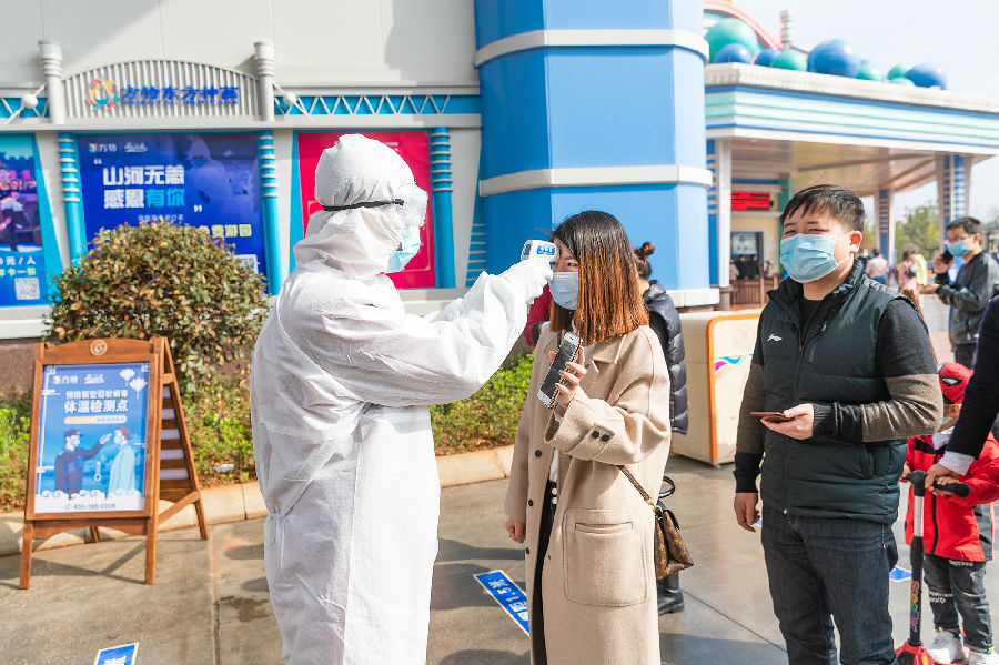 Fantawild reopen coronavirus temperature checks