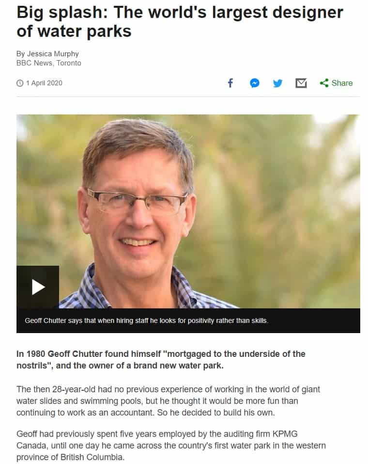 Geoff Chutter from WhiteWater appears on BBC's paths to success