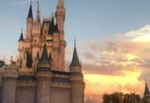 Walt Disney Magic Kingdom Sunset