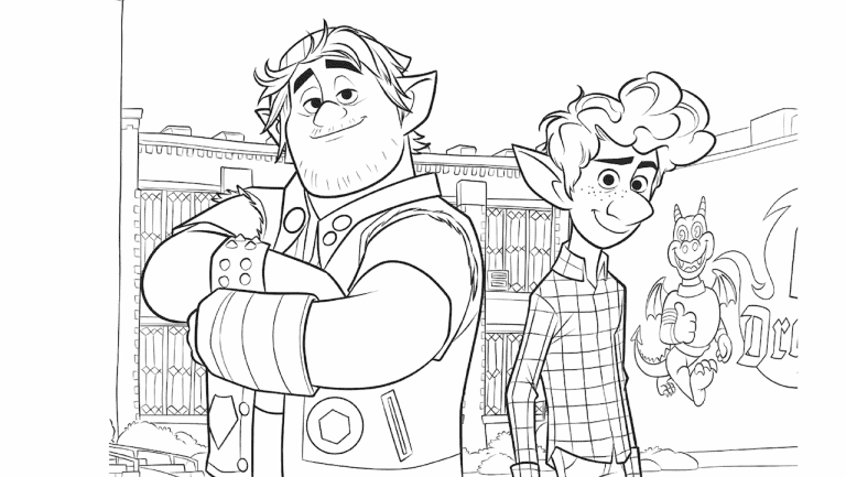 Pixar colouring page Disney magic moment