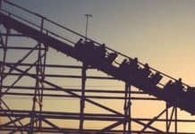 sunset roller coaster