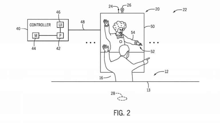 Universal patent AR technology theme park ride