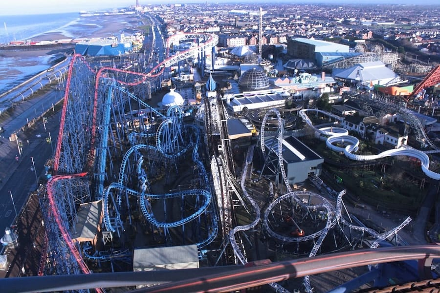 Blackpool Pleasure Beach family owned theme parks experiencing attractions
