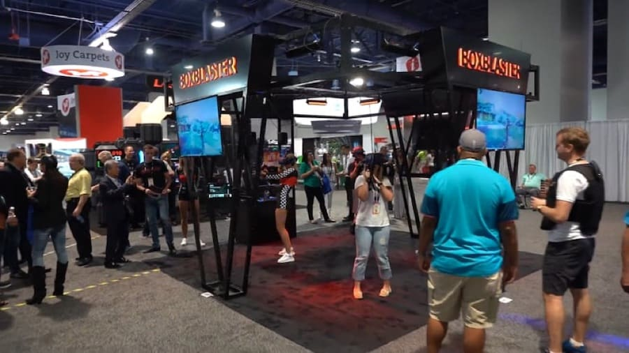 Boxblaster booth at IAAPA