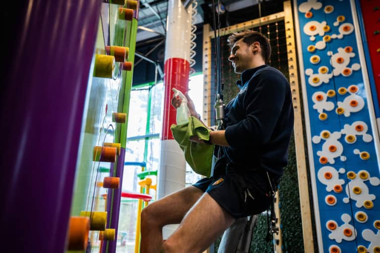 Clip n Climb cleaning COVID 19 attractions industry