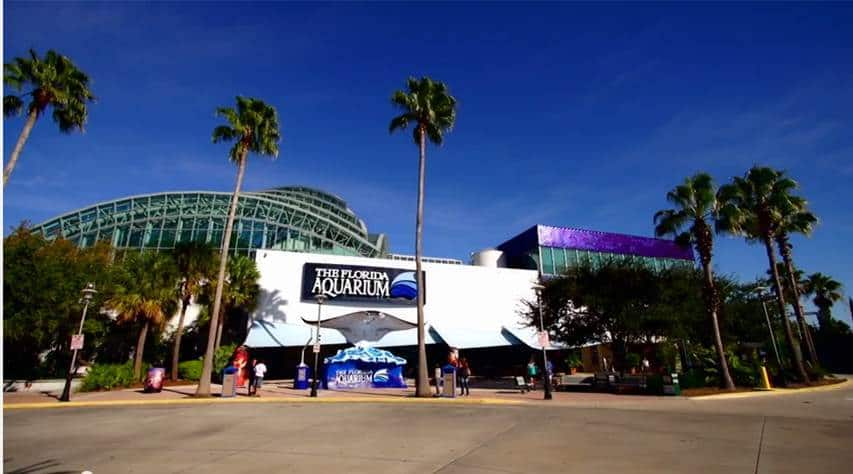View of the Florida Aquarium building from front