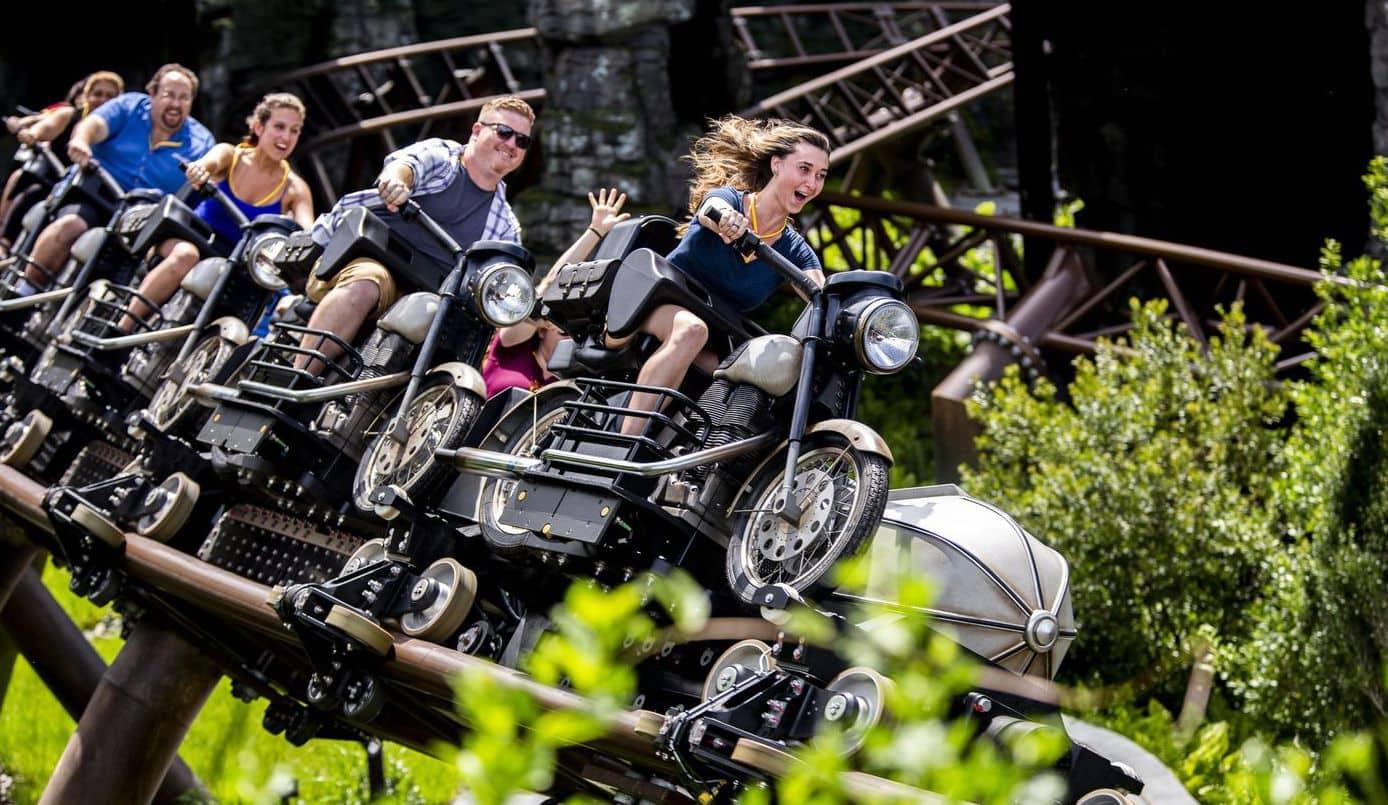 Hagrid motorbike coaster orlando theme parks reopen.