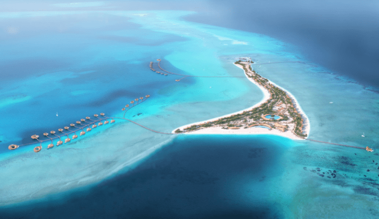 Rendering of island at Red Sea Project