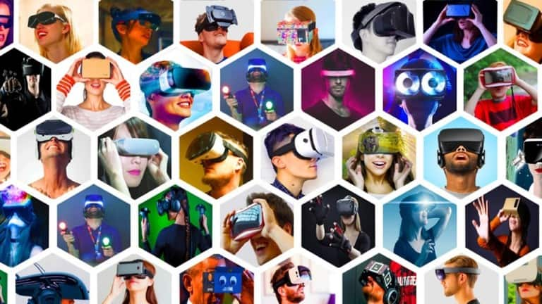 VR headsets collage - LBE VR entertainment trends