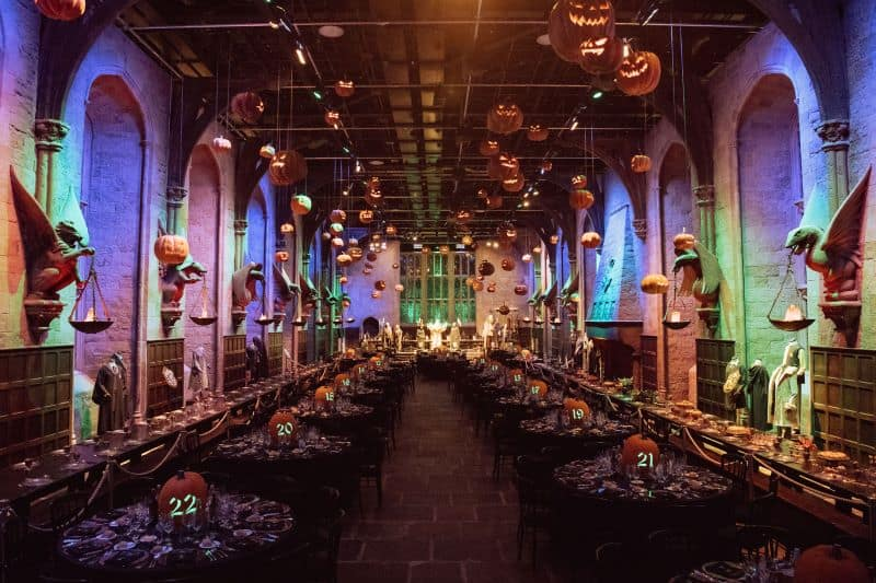Hogwarts Great Hall set up for after hours dining experience food attractions