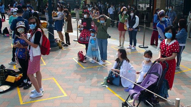 Social distancing at Shanghai Disney attendance rebound