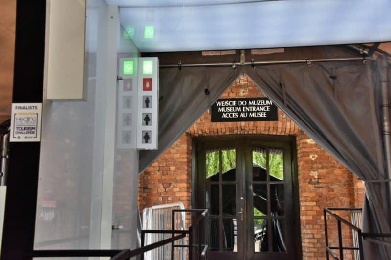 auschwitz birkenau sanitation gate