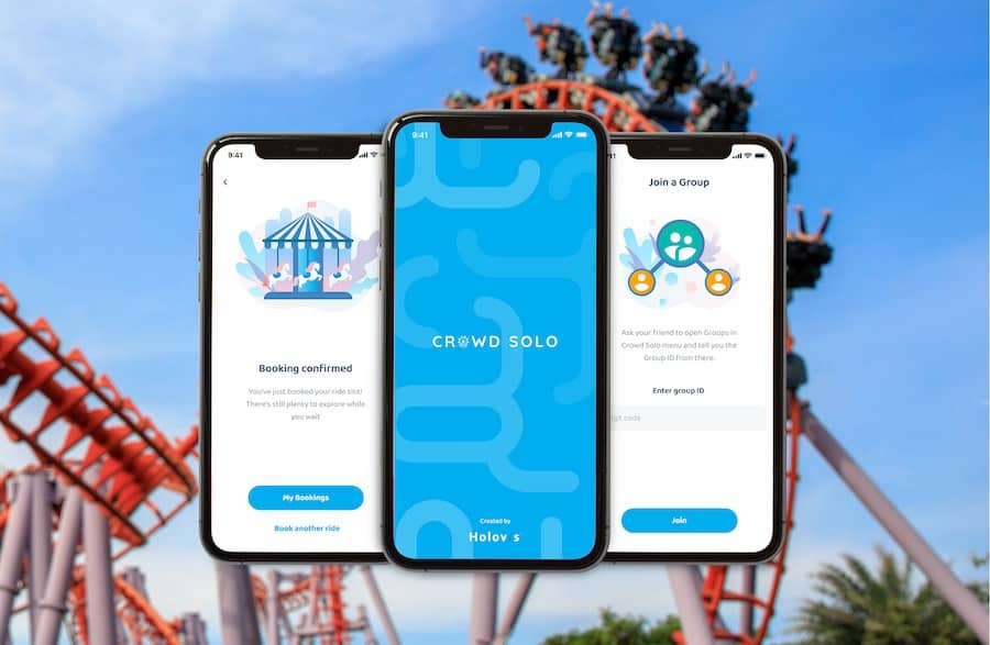 Crowd Solo App by Holovis for social distancing reinvent theme park