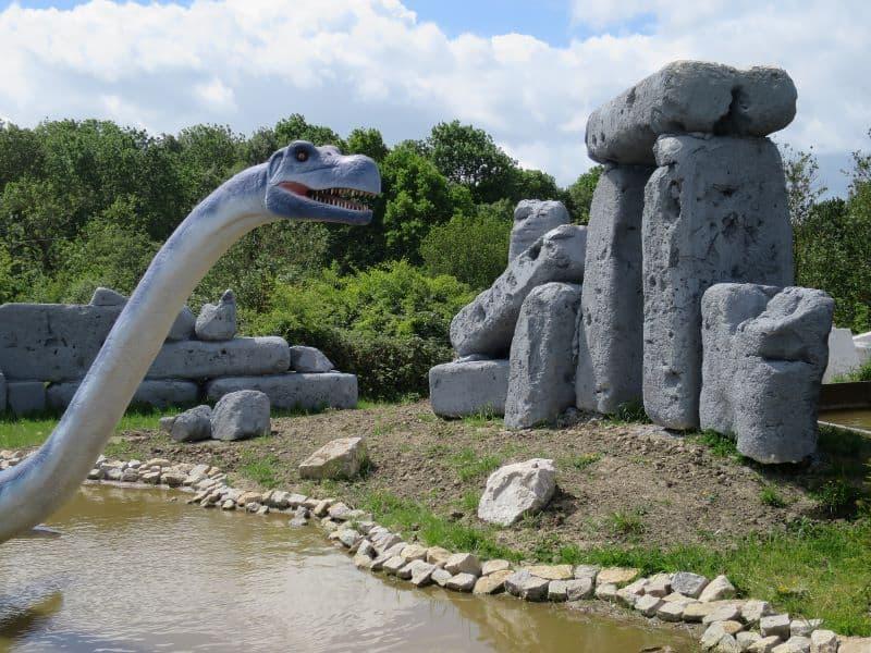 Dinosaur head at Gulliver's Valley Theme Park
