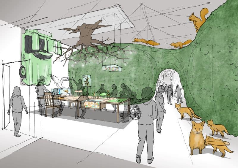 Concept design for nature exhibition at Eureka Mersey