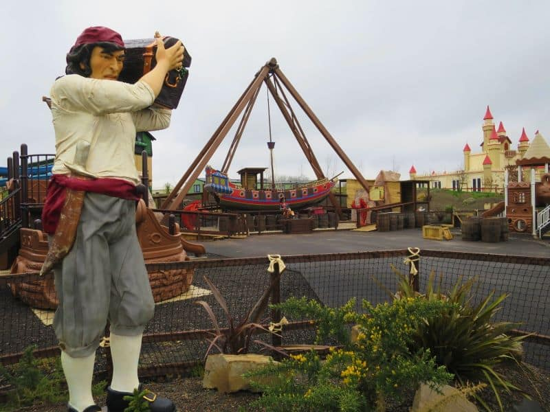 The ghostly galleon pirate ship at Gulliver's Valley Theme Park