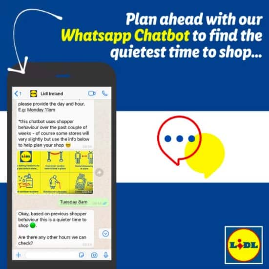 Lidl WhatsApp chatbot COVID 19 innovations
