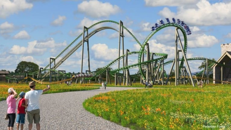 Artist design of new rollercoasters at Tayto Park