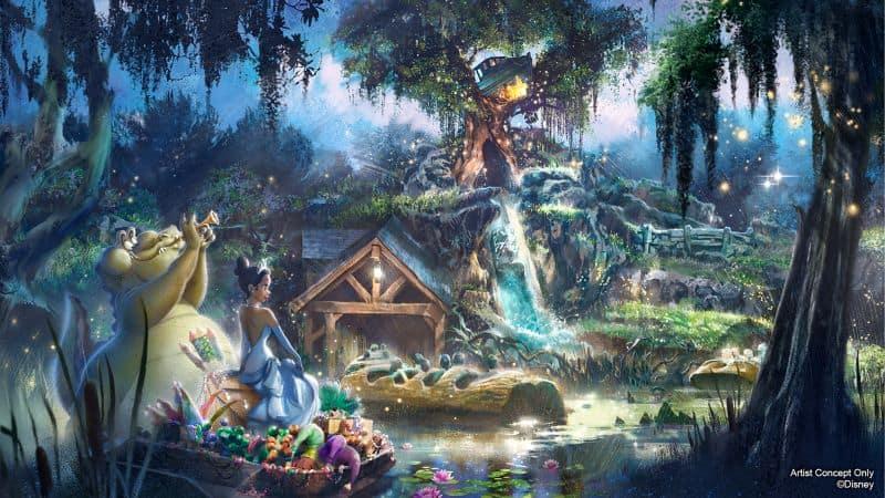 Princess and the Frog Splash Mountain retheming