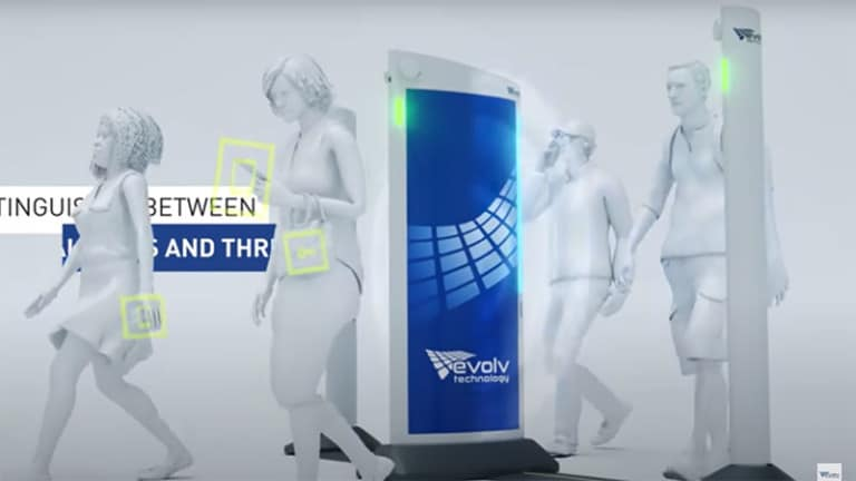 contactless security scanner disney evolv