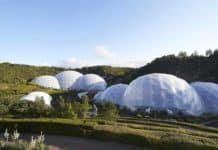 The eden project biomes that use Green 4 ticketing technology