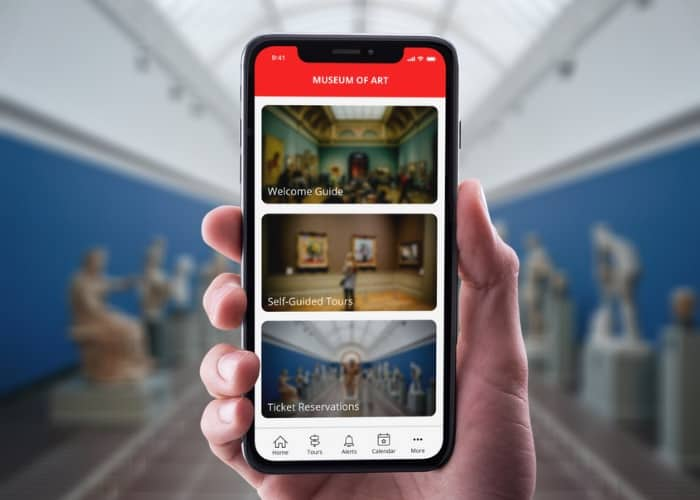 Cuseum - Mobile App - In Hand accesso partnership