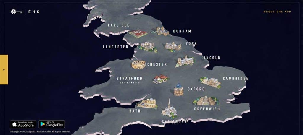 England's Historic Cities app museum AR