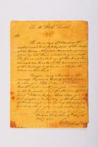 George Washington Letter Spy Museum